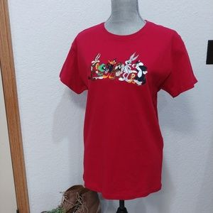 90's vintage embroidered Looney Tunes tee size XS